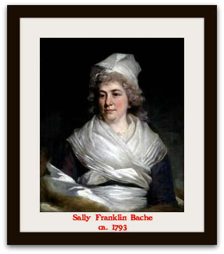 Sally Franklin Bache, 1793