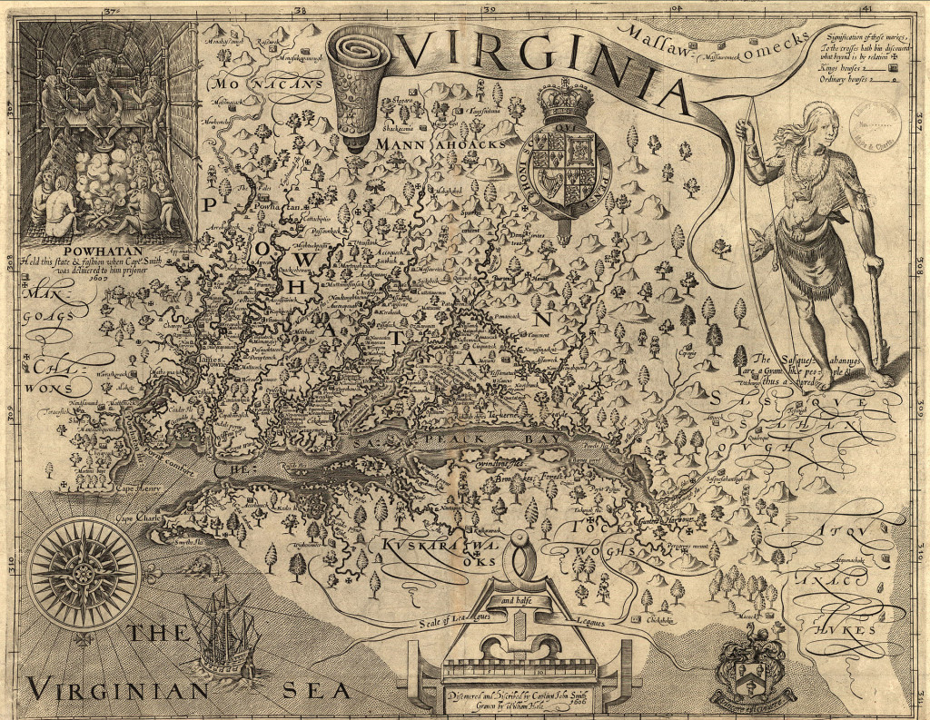 Virginia Map ca 1606