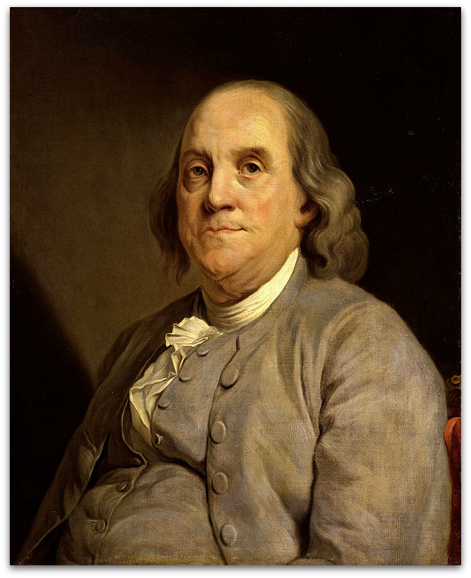 Portrait of Franklin by Joseph Siffred Duplessis (ca. 1785)