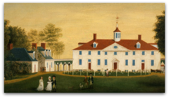 The West Front of Mount Vernon, attributed to Edward Savage, ca. 1787–1792  Courtesy of U.S. Library of National Medicine